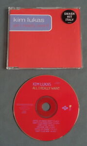 KIM LUKAS All I really want Eiffel 65 radio edit CD MAXI SINGLE 6 tr 1999 JIVE