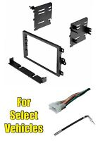 Double Din Radio Install Dash Stereo Car Mount Trim Kit Combo For Some Suzuki