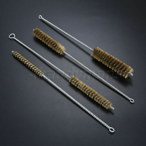 Brass Wire Brushes Tube Pipes Cleaning Metal Remove Rust Polishing Deburring
