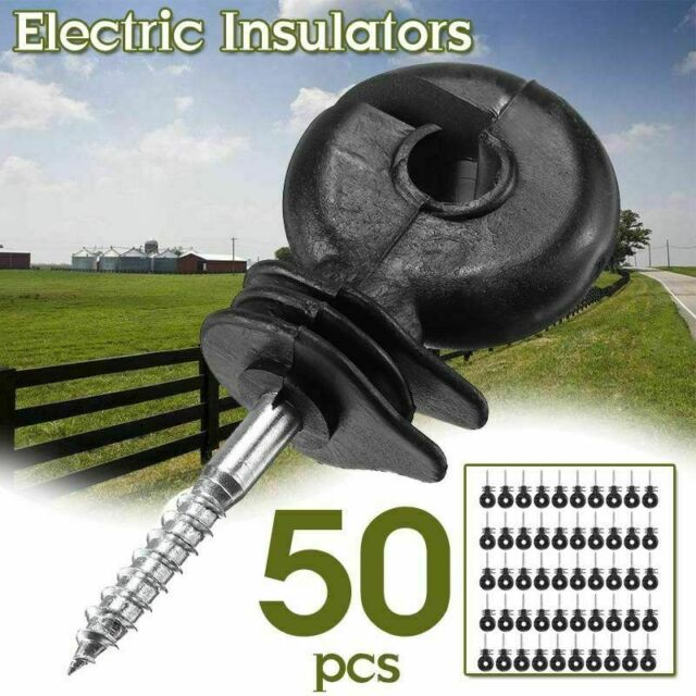 50 Pcs Screw in Ring Insulators Electric Ring Polyrope Insulator Walfront