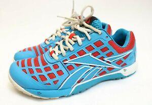 Reebok-Crossfit-CF74-Womens-Nano-3-0-Training-Running-Shoes-Size-7-5-Blue-Red