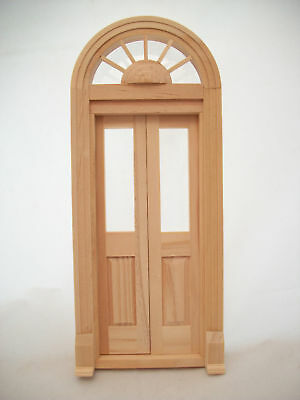 DOOR SINGLE FRENCH  dollhouse miniature wood #6022 1//12 scale Houseworks