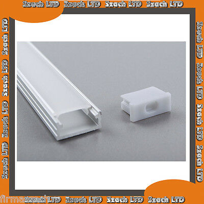 Aluminium LED Strip Profile  with Milked or Transparent Cover  1.5  m LL-02