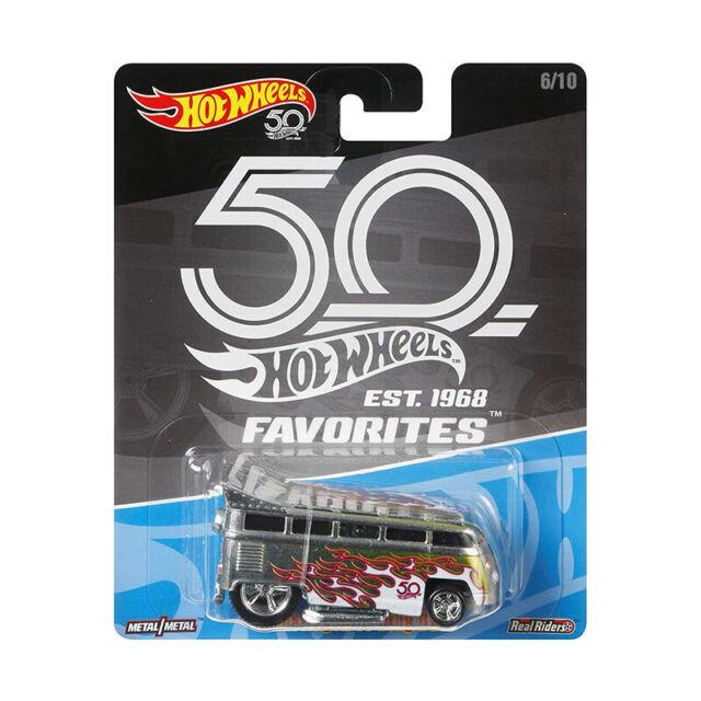 Hot Wheels FLF41 Volkswagen T1 Drag Bus grau - 50th Anniversary 1:64 NEU! °