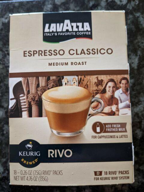 LAVAZZA® Espresso Classico Medium Roast Coffee Pods for Rivo Keurig Box 18ct
