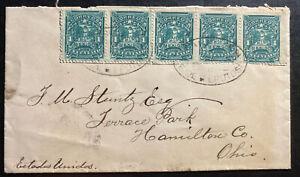 1895-San-Luis-Potosi-Mexico-Cover-To-Hamilton-OH-USA-Via-Nuevo-Laredo