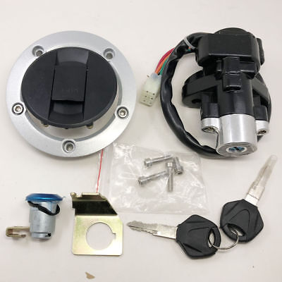 Suzuki GSXR600//750 Ignition Switch Fuel Gas Cap cover Seat Lock Key Set 2004-15