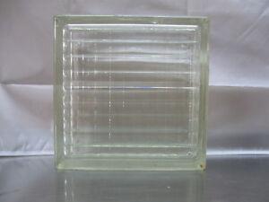 FUCHS-Glasbausteine-91-Stueck-Klar-Gekreuzt-Gewellt-gebraucht-24-x-24-x-8-cm