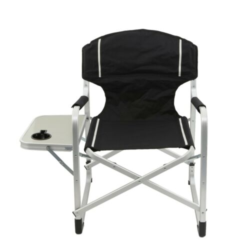 2pc Folding Director/'s Chair Aluminum Camping Lightweight Chair with Side Table