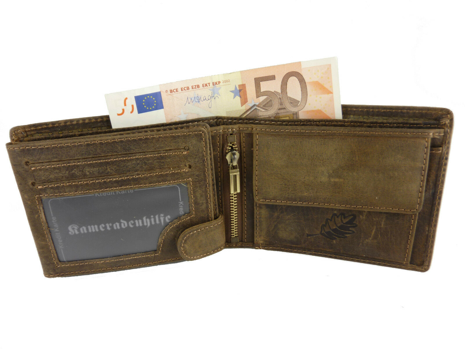 017d28a0fc35c KAMERADENHILFE Herren Geldbörse Brieftasche Leder Geldbeutel ...