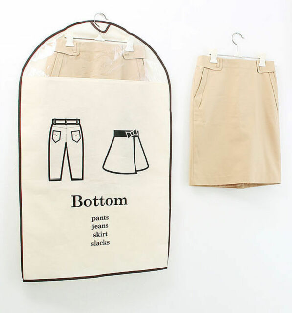 for Bottom - Clothes Hanger Cover - Set of 3P - Transparent See through Window