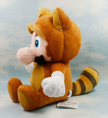 "New 7"" Tanooki Mario of Super Mario Bros Stuffed Toy Plush Doll"