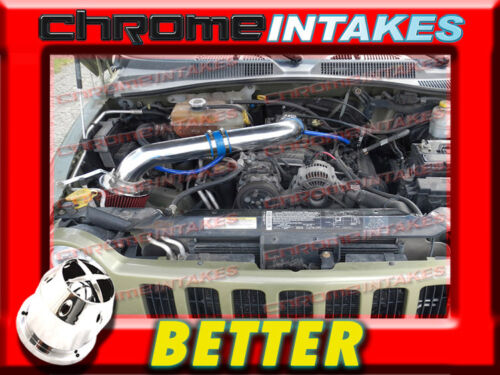 CF BLUE RED 02 03//2002 2003 JEEP LIBERTY ALL 3.7 3.7L V6 COLD AIR INTAKE KIT 2p