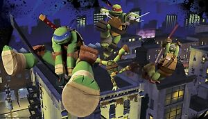 Details About Age Mutant Ninja Turtles Prepasted Wallpaper Mural Tmnt Wall Decor