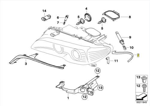 BMW E46 2-Door LH Indicator Lens Light Lamp Seal Gasket 63126934749
