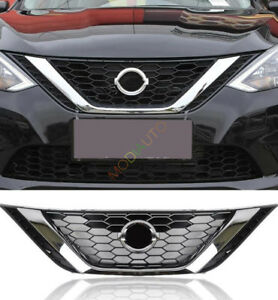 Image Is Loading Abs Chromed Front Per Upper Grille For Nissan