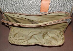 Vintage HARTMANN Tweed Leather Rolling Garment Bag