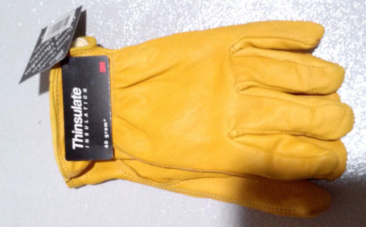 Men's Deerskin Luxury Winter Driving Glove Natural Lined 40 Gram Thinsulate