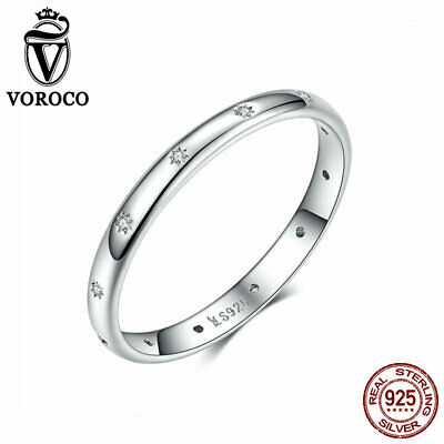VOROCO Star-Light S925 Sterling Thai Silver Ring With Fire Opal Platinum Plated