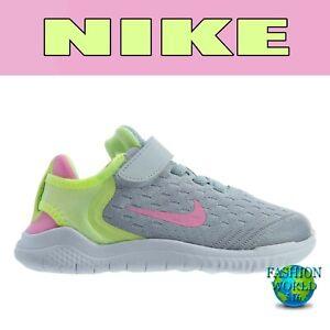 Nike-Girls-Size-2Y-FREE-RN-2018-PSV-Running-Shoes-AH3455-002-Platinum-Pink