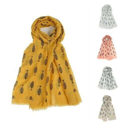 Women/'s Vintage Fish Cat Lover Neck Wrap Up Head Scarf Hijab
