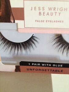 New Glam Long Eye Lashes Unforgettable False Eyelashes With Glue By Jess Wright 5033996012592 Ebay