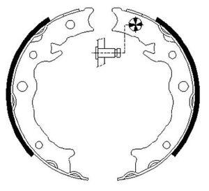 Mintex-Rear-Brake-Shoe-Set-MFR723-BRAND-NEW-GENUINE-5-YEAR-WARRANTY