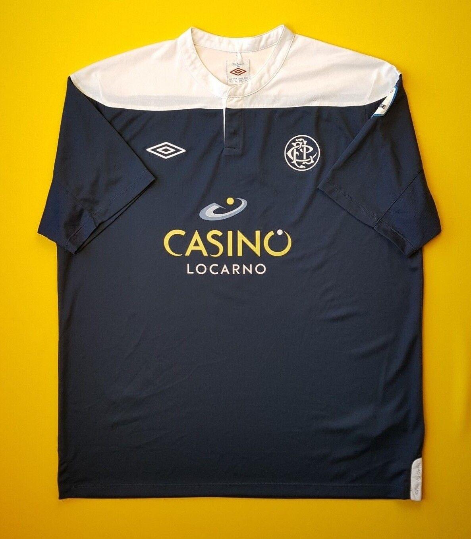 5 5 FC Locarno Swiss jersey 2012 2013 autograph team shirt XL soccer Umbro