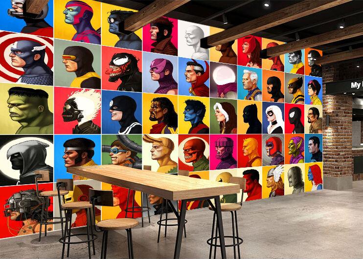 3D Farbeful Cartoon Characters Wall Paper Wall Print Decal Wall AJ WALLPAPER CA