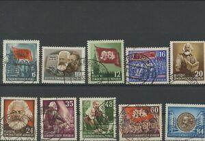 Germany-GDR-vintage-yearset-1953-Mi-344-353-Postmarked-Used-More-Sh-Shop-2