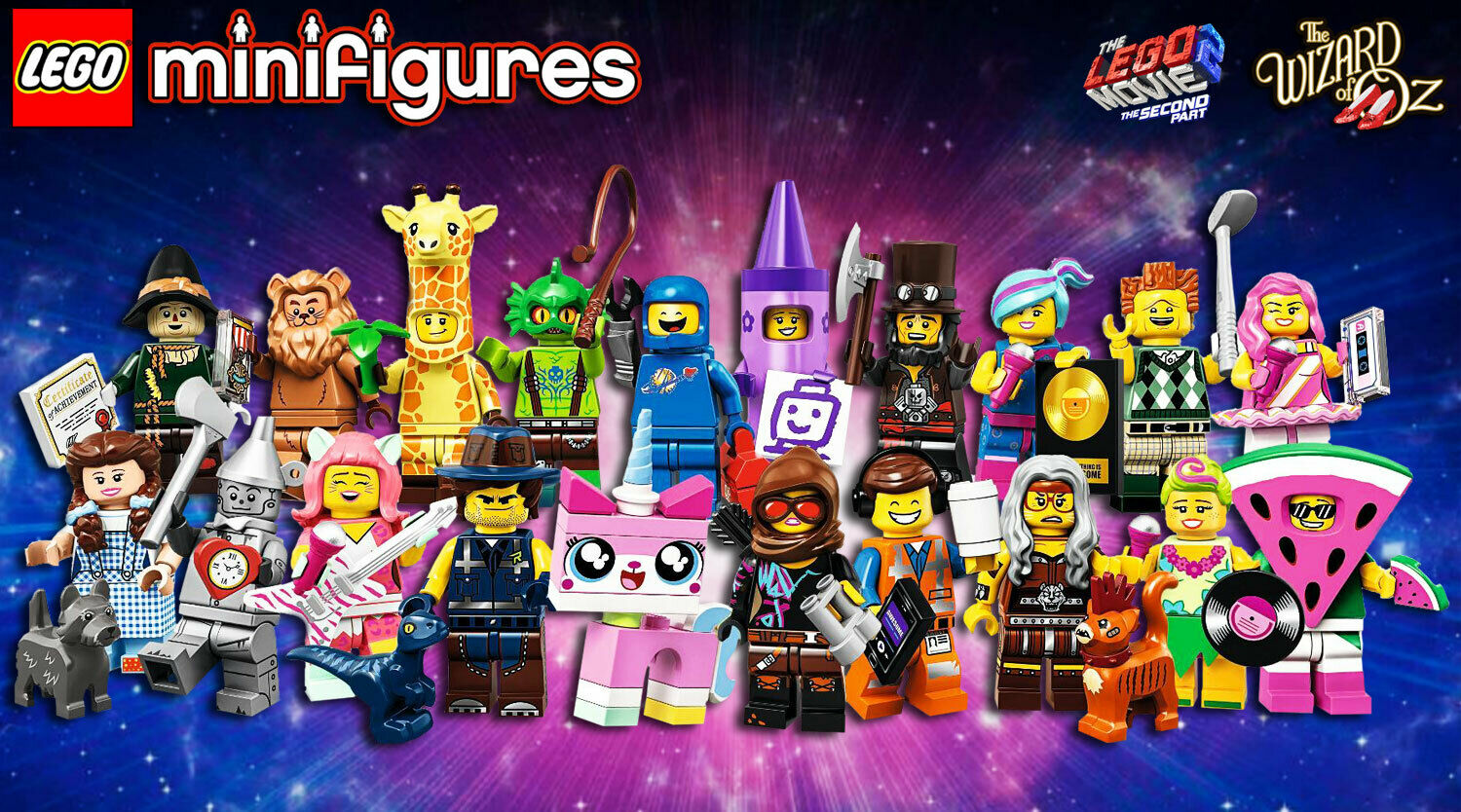 LEGO Minifigures  71023 - Serie LEGO Movie Part 2 Complete Collection - 100% NEW