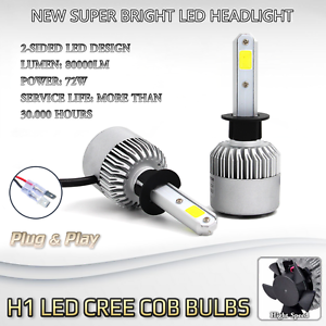 Image Is Loading 2x Bulbs H1 Led Cree 72w White 6500k