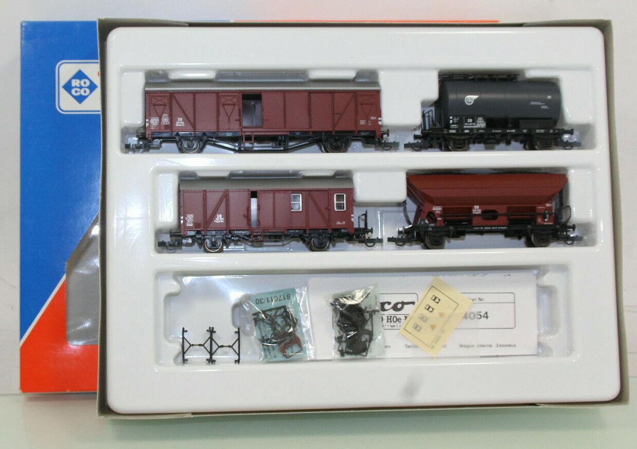 ROCO h0 44054 carri merci-Set 4tlg. il DB molto ben tenuto in scatola originale (sl9902)