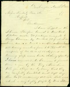 EDW1949SELL : AUTOGRAPH Millard Fillmore 1853 Letter as President. Written