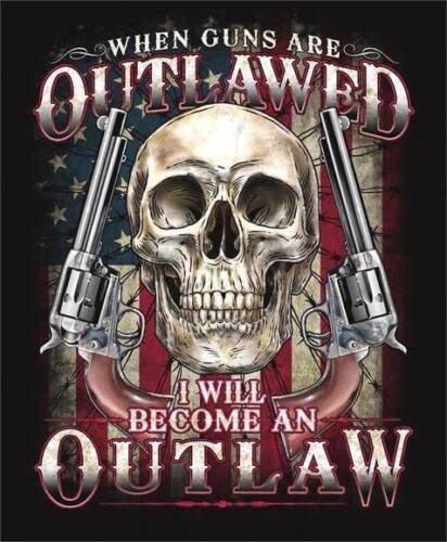 2ND AMENDMENT I WILL BECOME A OUTLAW  BIKER T SHIRT SHORT SLEEVE