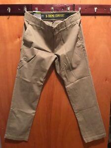 3a23b189 Details about Lee X-treme Comfort Flst Front Slim Fit Khaki Pants  Performance Series Sz: 32/30