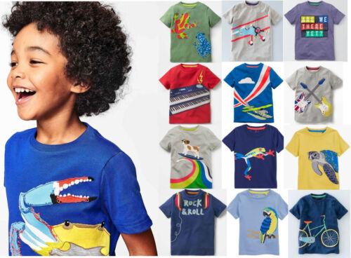 Mini Boden boys applique t-shirt top short sleeeve animals guitar plane  2 - 14