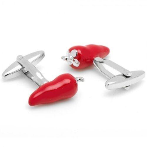 Box /& Cleaner Red Chill Pepper Serrano Cufflinks