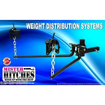 275KG (600LB) WEIGHT DISTRIBUTION SYSTEM - HITCH TOW BAR CARAVAN LOAD LEVELLER