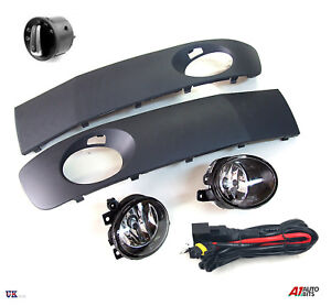 VW-T5-TRANSPORTER-FOG-LIGHTS-LAMPS-GRILLES-amp-WIRING-KIT-SWITCH-2009-2015