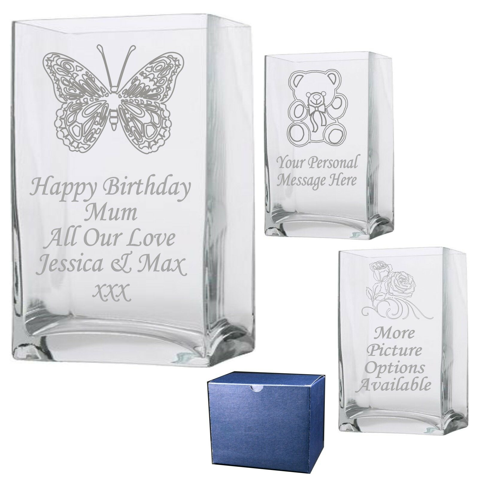 Engraved  Rectangle Vase 1  Nanny Mom Nannie Mama Birthday Gift Present