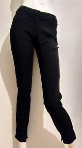 Designer-REISS-tube-trousers-size-6-VGC-wool-blend-slim-leg-black