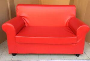 Divano 2 posti per ufficio misura 120 cm in ecpelle COLORE ROSSO | eBay