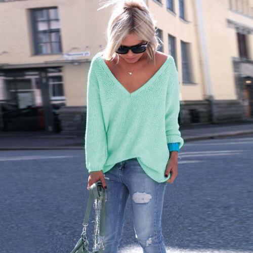 Damen Sweater Pullover Strickpullover Winter Pulli Oberteile Sweatshirt Bluse