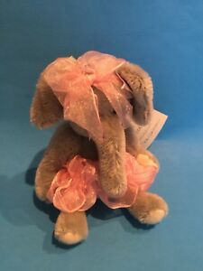 "DEB CANHAM  "" PETUNIA"" A BIGGER BEAR COLLECTION ELEPHANT 6 1/2"" - MOHAIR"