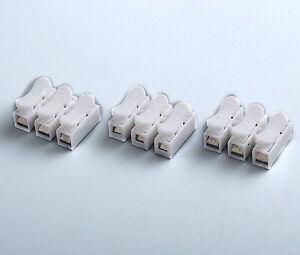 20Pcs-NEW-push-quick-cable-3-pins-connector-terminal-Wiring-Terminal-10A-250V
