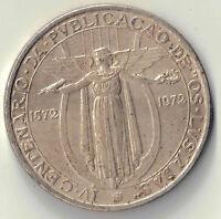 1972 50 ESCUDOS PORTUGAL SILVER COIN DBW