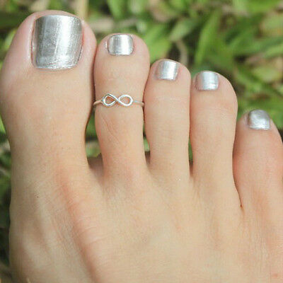 Celebrity Fashion Simple Retro Infinity Design Adjustable Toe Ring Foot Jewelry