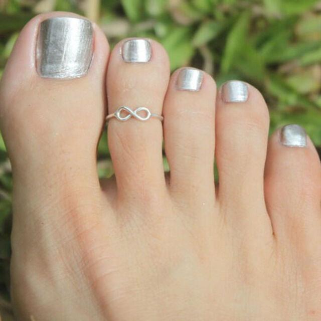 Celebrity Fashion Simple Retro Infinity Design Adjustable Toe Ring Foot Jewelry