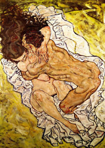 The-Embrace-by-Egon-Schiele-art-print-on-230gsm-photo-paper-choose-size